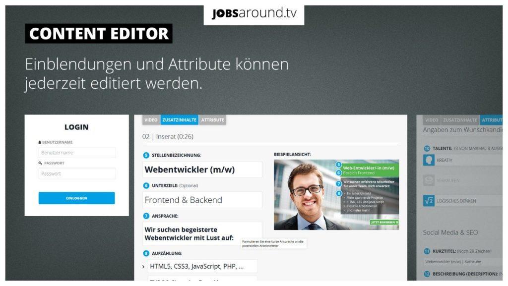 Jobsaround Content Editor