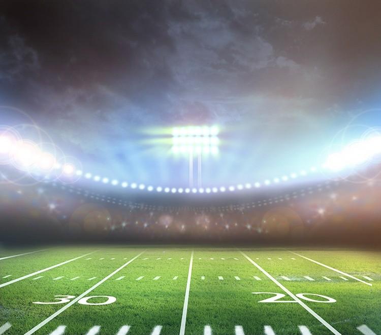 Football-Feld im Stadion