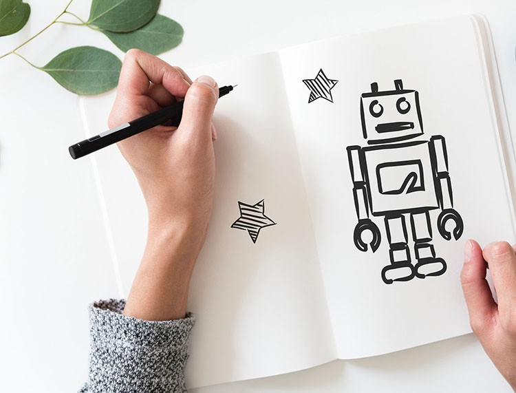 Skizze Roboter