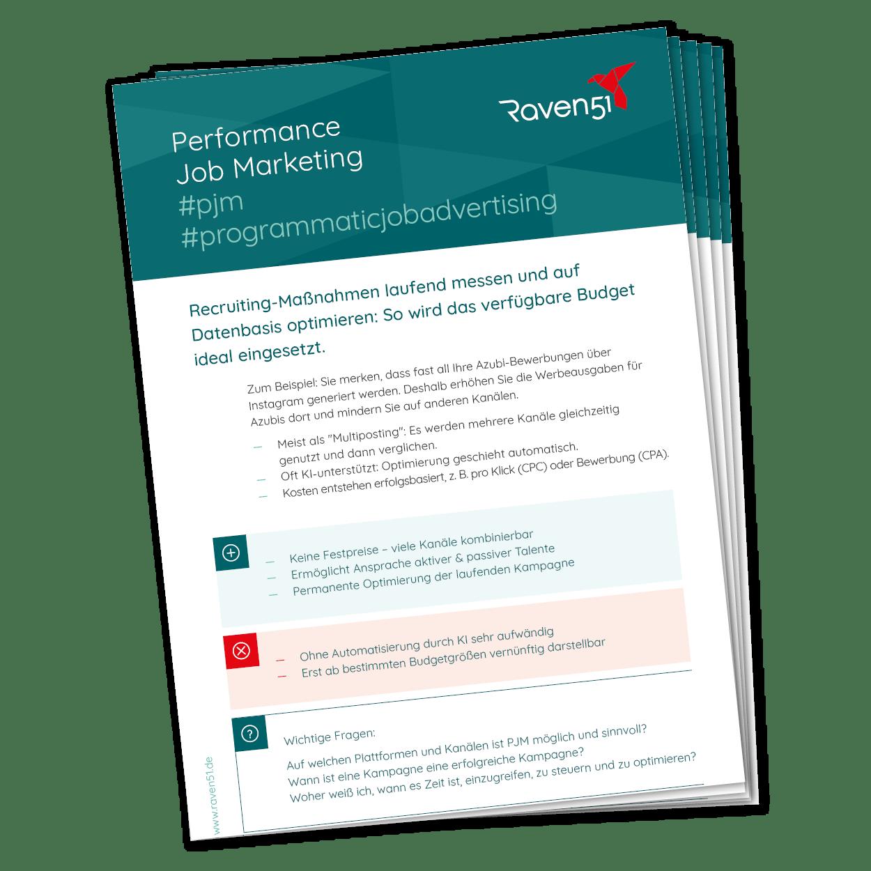 Cheat Sheet Performance Job Marketing